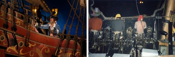 世界のディズニーパークに存在する有名なアトラクションの点検時などに撮影された「アトラクションの裏側」とも言える貴重な写真。古い資料だけど、見る人によっては