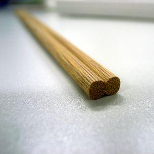 メシ食おうとしたら割り箸が芸術的な割れ方したww