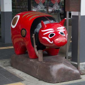 会津が新たな方法で「赤べこ」売りをしてましたw