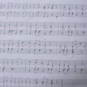 楽譜にかわいいのいた(*´꒳`*)