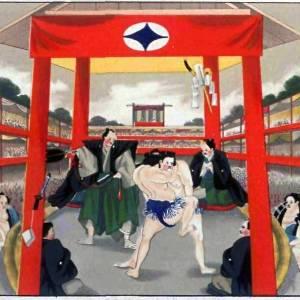 お相撲さんの腹がやけにテカテカしてるな、と思ったら・・・