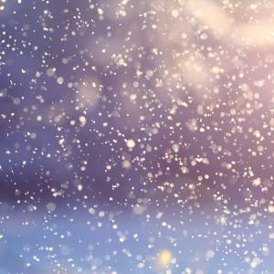 雪をスローモーションで撮ってたら…びっくりした😱