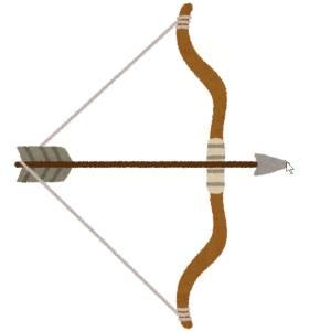 この「弓のオブジェ」何で出来てるのかと思ったらwww