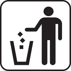 「ゴミはゴミ箱へ」ってそこに貼られると混乱するだろww