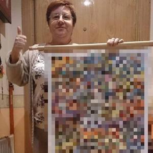 「うちのばあちゃんが9か月かけて織ったポケモンのタペストリーを見てくれ」その完成度に驚愕