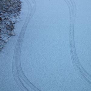 タイヤの跡が可愛い(*´ω`*)