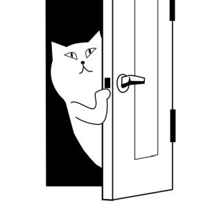「一方通行しかできない」というネコ用ドアを設置したら…お前マジかwww