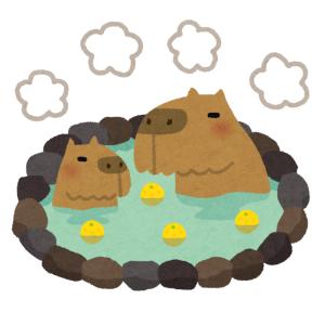 ある動物園の「カピバラ風呂」で可愛すぎるミラクルが起きたww