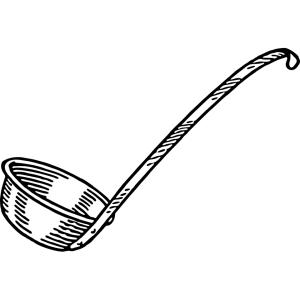 100均で買った「お玉」がコンロの熱で大変なことに😨 「もはや前衛アートだw」