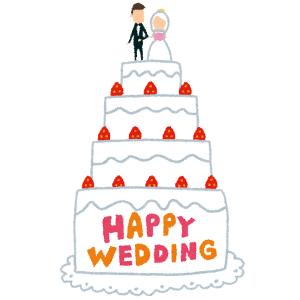 あるオタクの結婚式に行ったらウエディングケーキが凄い事になっていた😳