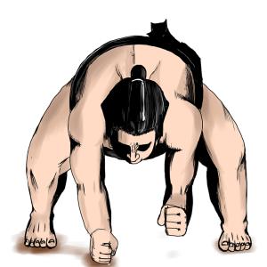 「写真下手な私が撮ったお相撲さんがこちらです」→見たことのない生き物が写っていたwww