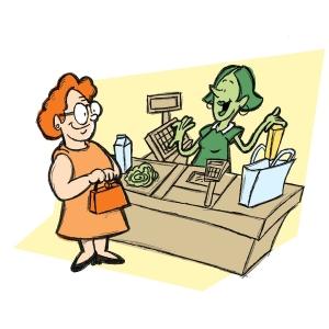 スーパーで会計してたら店員さんが突然「うわっ!」て声あげたから何事かと思ったら…うわっ!