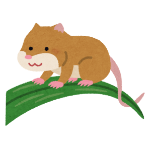 「たまらなくカワイイ…」キャベツ畑の中で台風に耐えるカヤネズミの健気な姿が話題に🐭