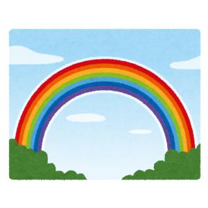 「ウッソだろオイ…」岐阜県であまりに低い『虹』が目撃される😳