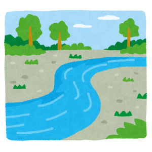 「どうしてこうなった…」ある川で目撃されたシュールすぎる光景にツイ民の脳がバグる