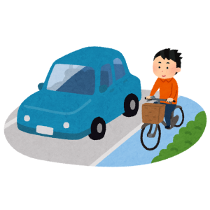 【恐怖】多摩の車道に設置された「自転車は左側走行」看板が世紀末すぎる😱