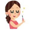 """【アート】この化粧品店、マスカラの試し書きコーナーが使われすぎて""""抽象画""""みたいになってる…🤔"""