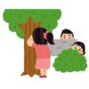 「かくれんぼの定義とは…」あるお宅の2歳児と6歳児によるかくれんぼが斬新w