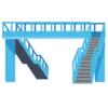 「この無駄が愛おしい…」大阪府大東市にある歩道橋の形状がエモすぎると話題にw